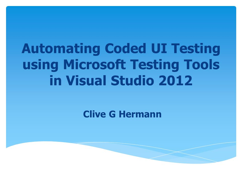  When you create a Coded UI Test, the Coded UI Test Builder creates a map of the user interface under test, and also the test methods, parameters, and assertions for all tests  It also creates a class file for each test Contents of a Coded UI Test © GSAtrain72Custom Coded UI Training for Microsoft