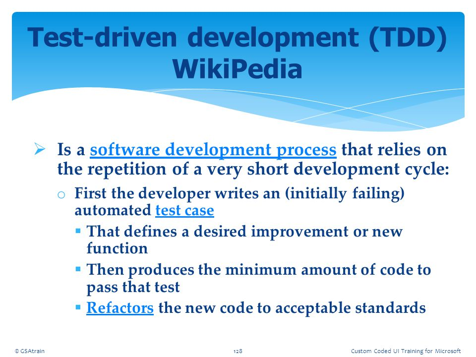  Is a software development process that relies on the repetition of a very short development cycle:software development process o First the developer