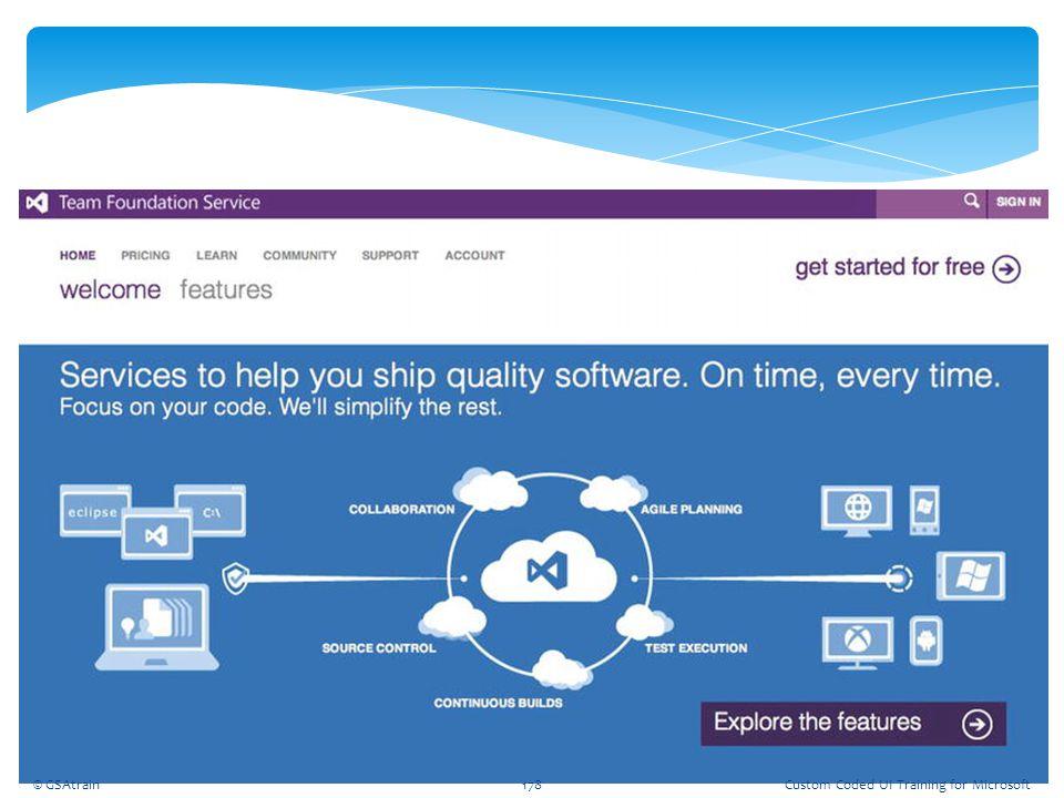 © GSAtrain178Custom Coded UI Training for Microsoft