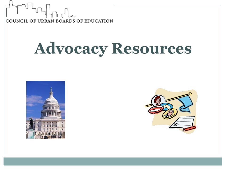 Advocacy Resources