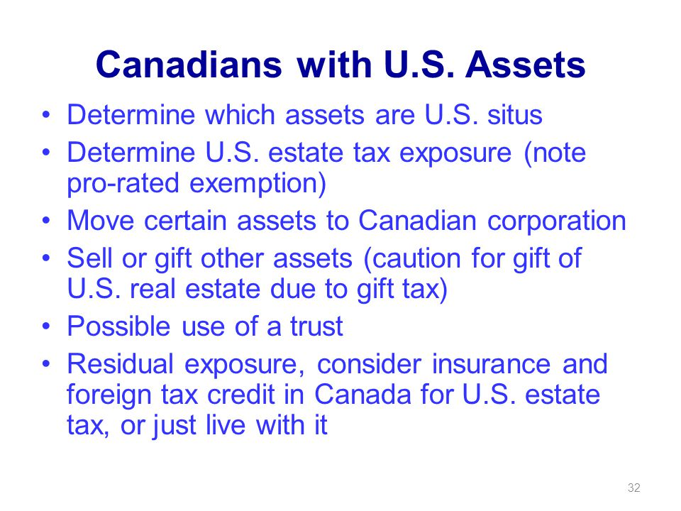 Canadians with U.S. Assets Determine which assets are U.S.