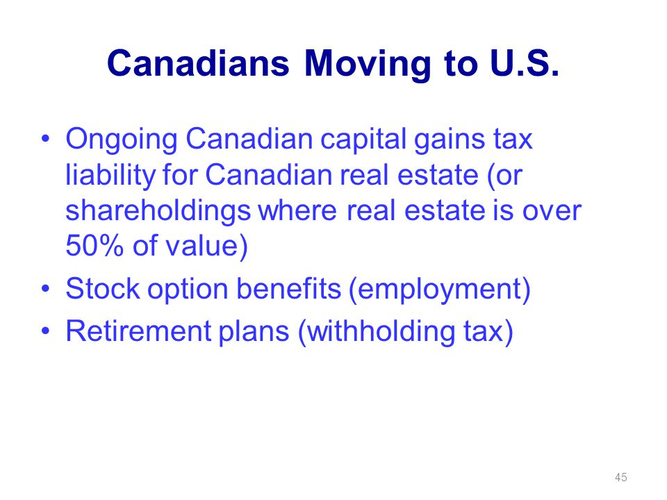 Canadians Moving to U.S.