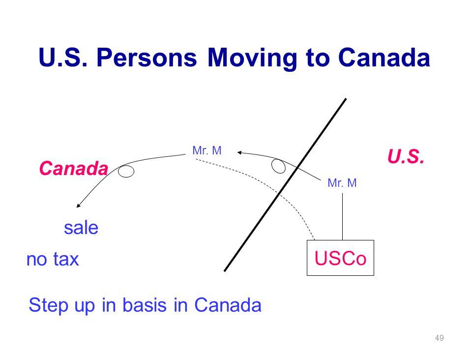 49 U.S. Persons Moving to Canada Canada U.S. sale Mr.