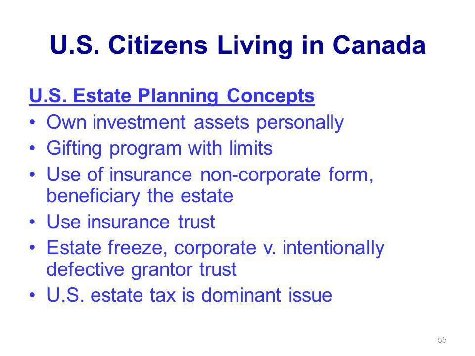 U.S. Citizens Living in Canada U.S.