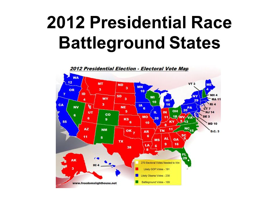 2012 Presidential Race Battleground States