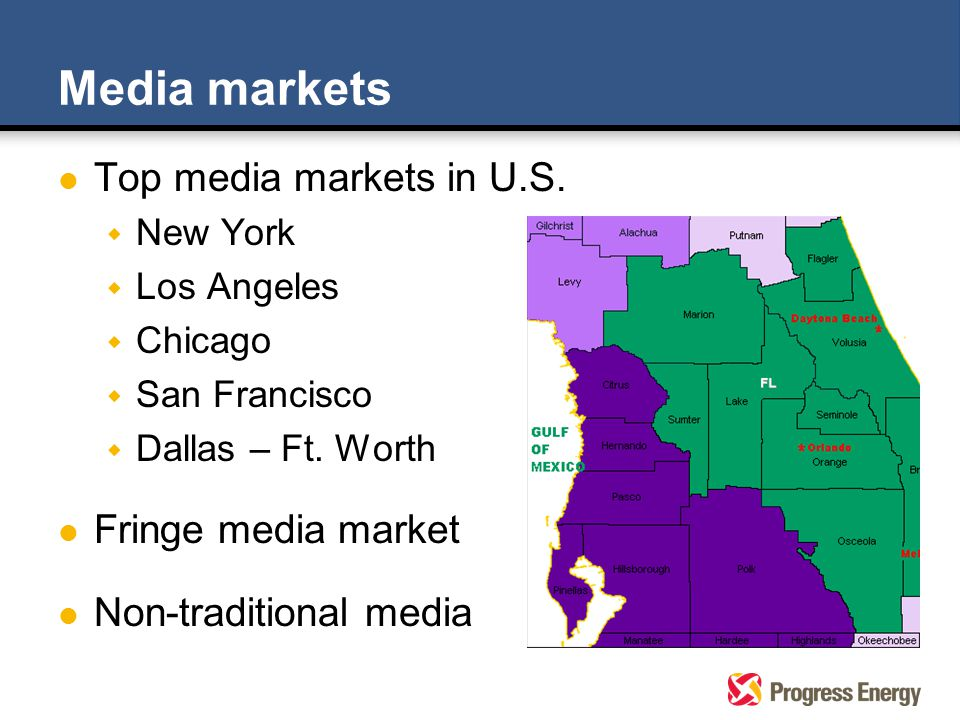 Media markets l Top media markets in U.S.