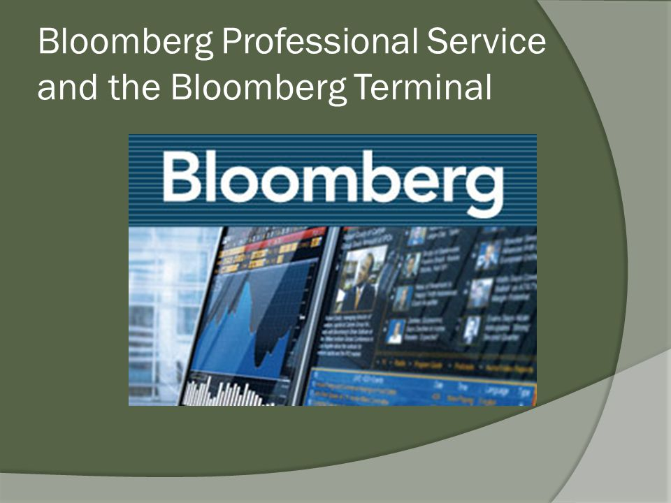Bloomberg Professional Service and the Bloomberg Terminal