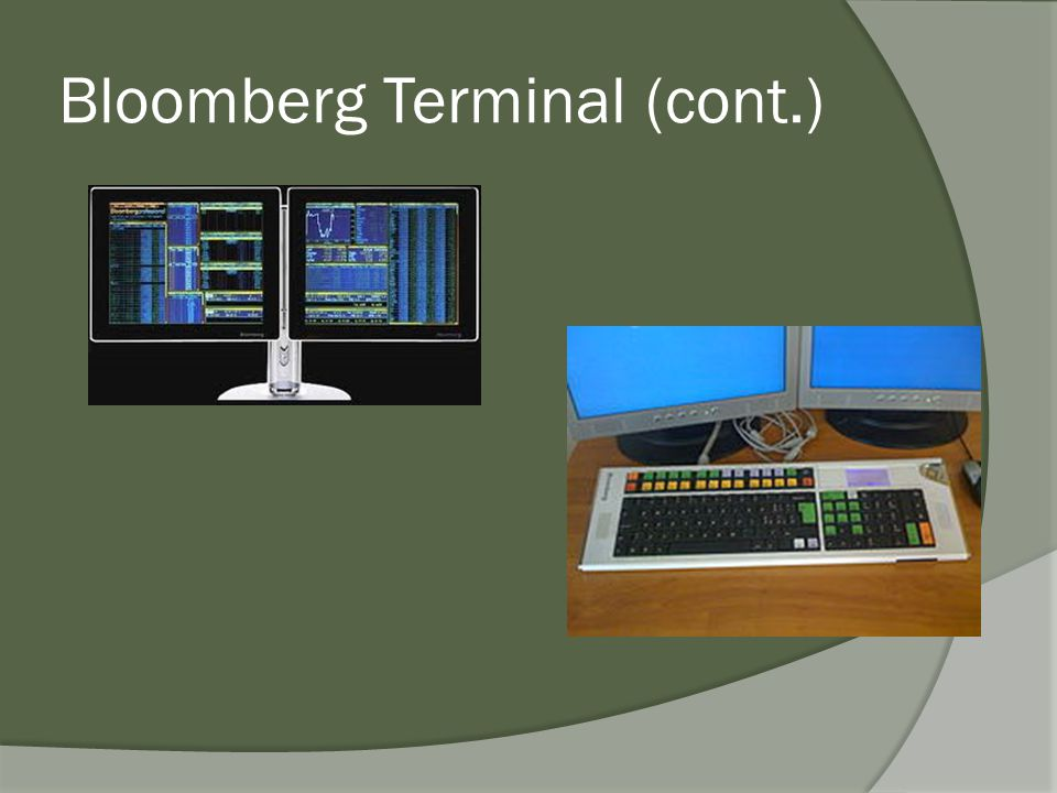 Bloomberg Terminal (cont.)