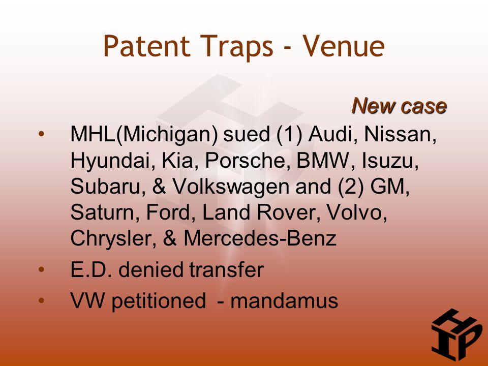 MHL(Michigan) sued (1) Audi, Nissan, Hyundai, Kia, Porsche, BMW, Isuzu, Subaru, & Volkswagen and (2) GM, Saturn, Ford, Land Rover, Volvo, Chrysler, &