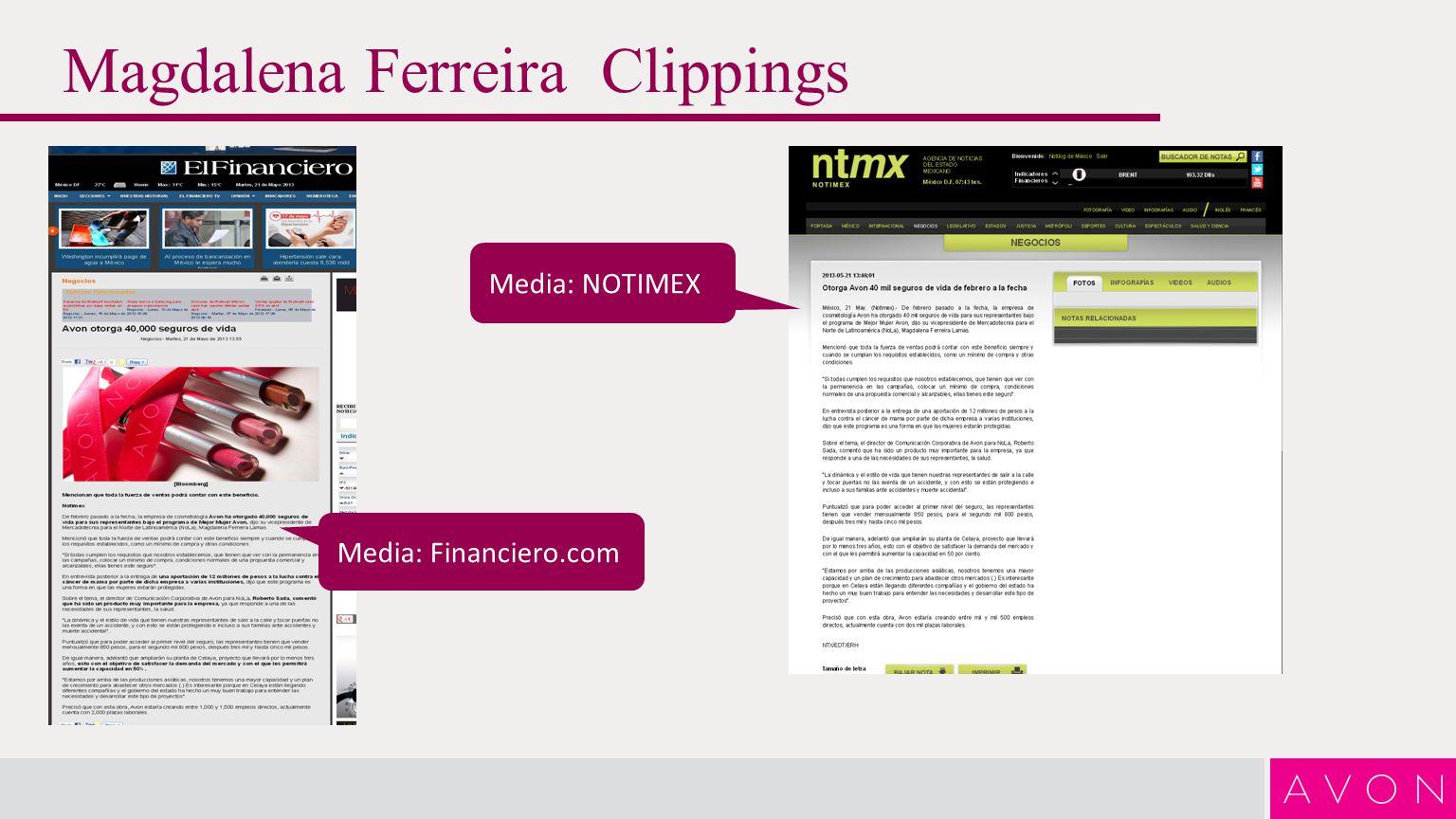 Magdalena Ferreira Clippings Media: El Economista.com Media: Diario de Coah.