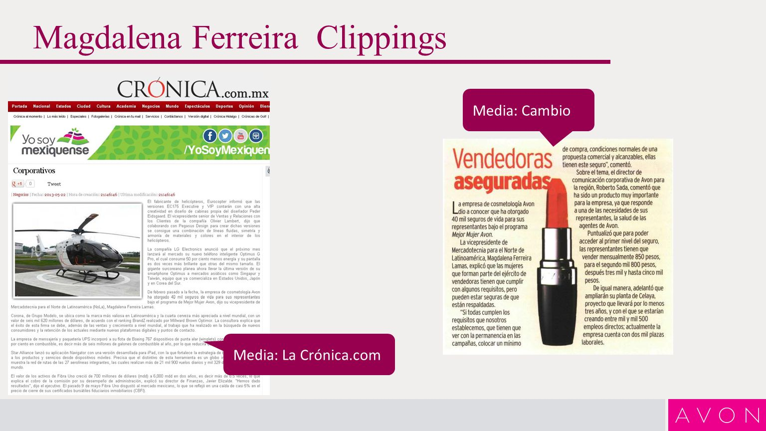 Magdalena Ferreira Clippings Media: La Crónica.com Media: Cambio