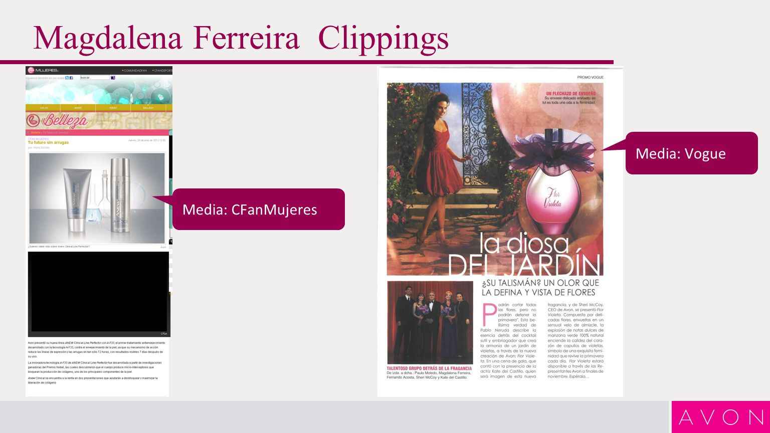 Magdalena Ferreira Clippings Media: Vogue Media: CFanMujeres