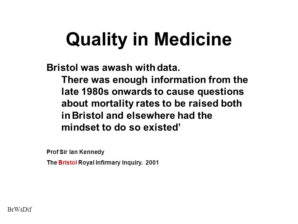 Quality in Medicine Bristol was awash with data.