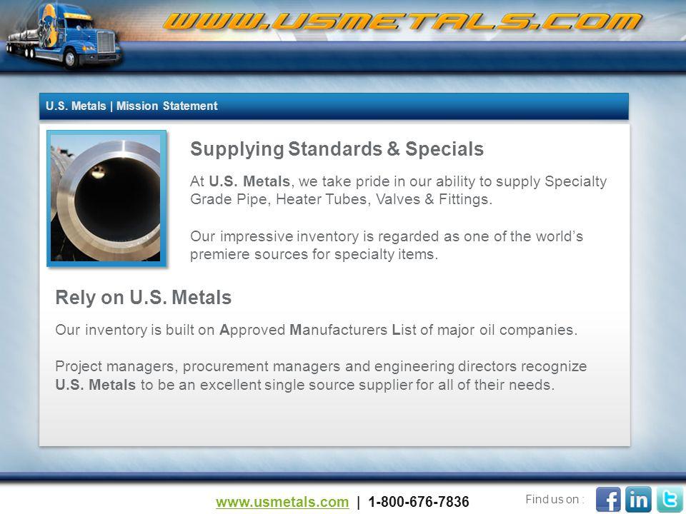 Supplying Standards & Specials At U.S.