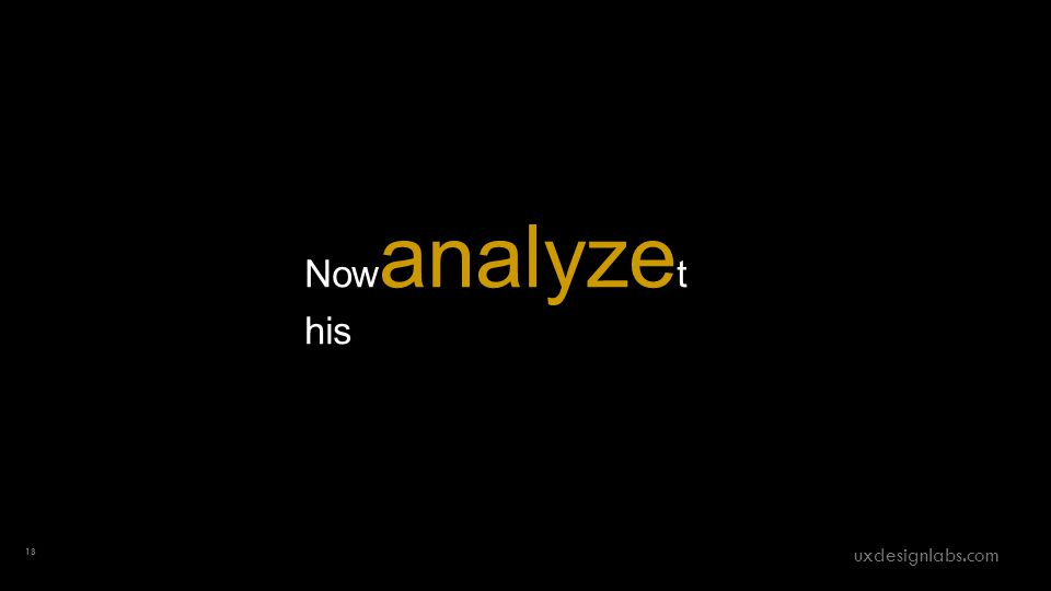 Now analyze t his 18 uxdesignlabs.com