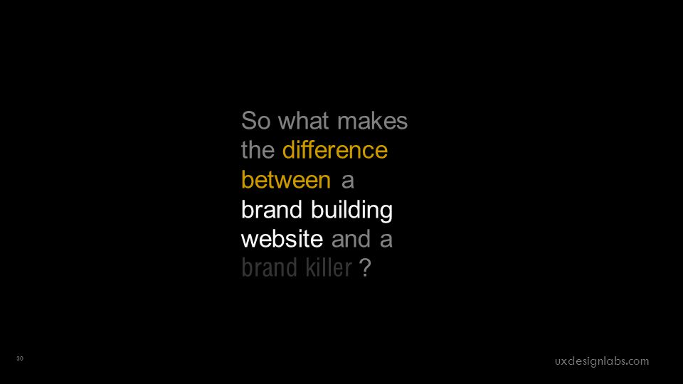 So what makes the difference between a brand building website and a brand killer .