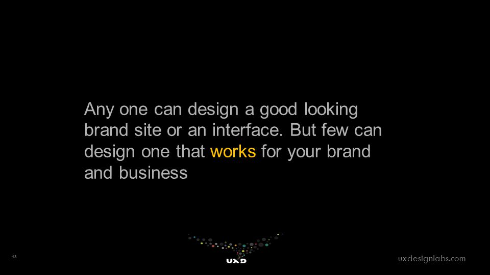 Any one can design a good looking brand site or an interface.
