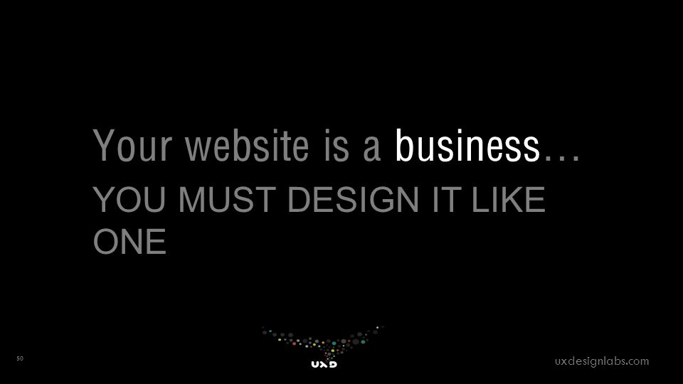 Your website is a business… YOU MUST DESIGN IT LIKE ONE 50 uxdesignlabs.com