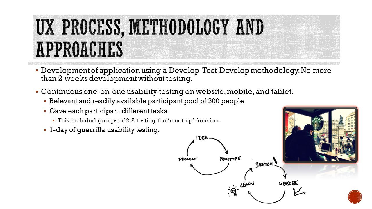 Development of application using a Develop-Test-Develop methodology.
