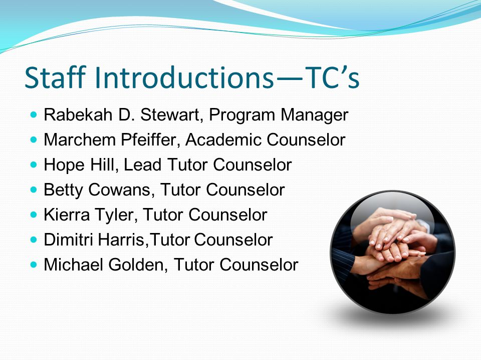Staff Introductions—TC's Rabekah D.