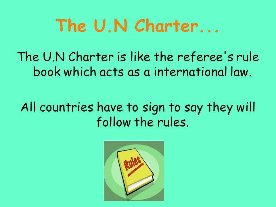 The U.N Charter...