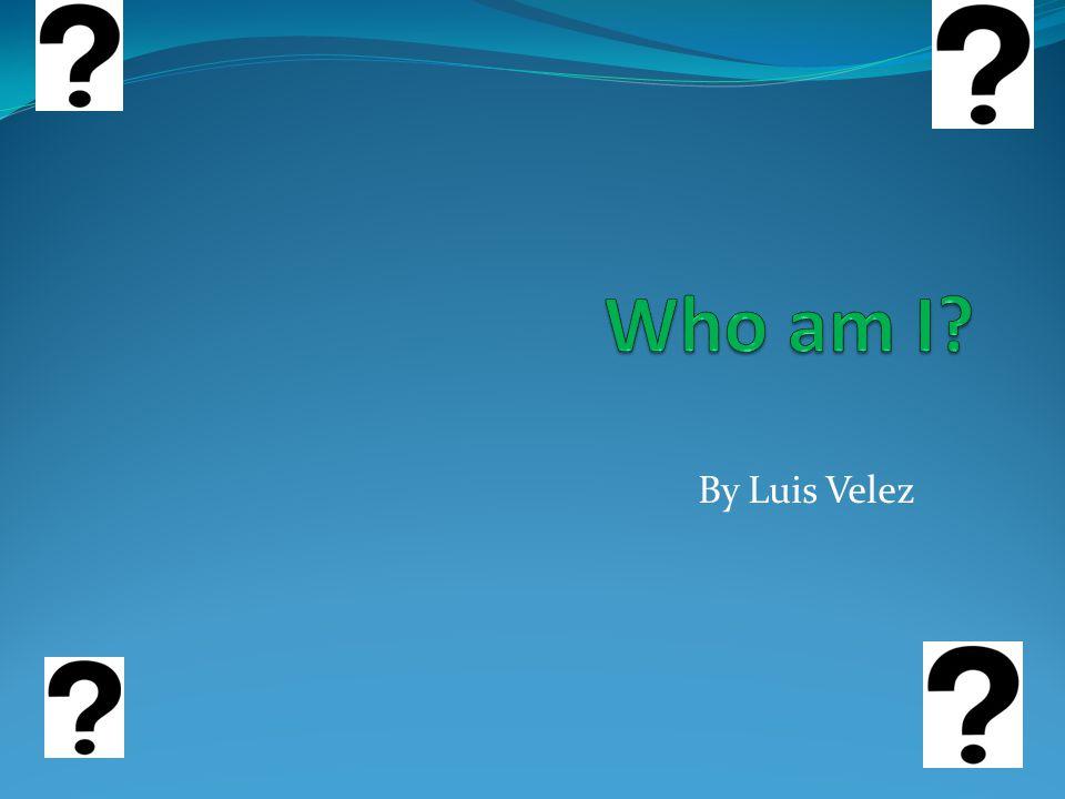 Who am I.I am Luis Velez. I was born in Waltham, Massachusetts.