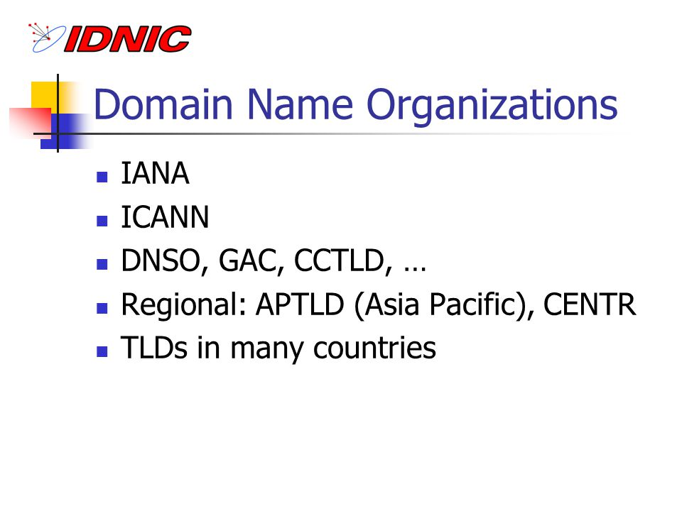 Base of ccTLD RFC 1591