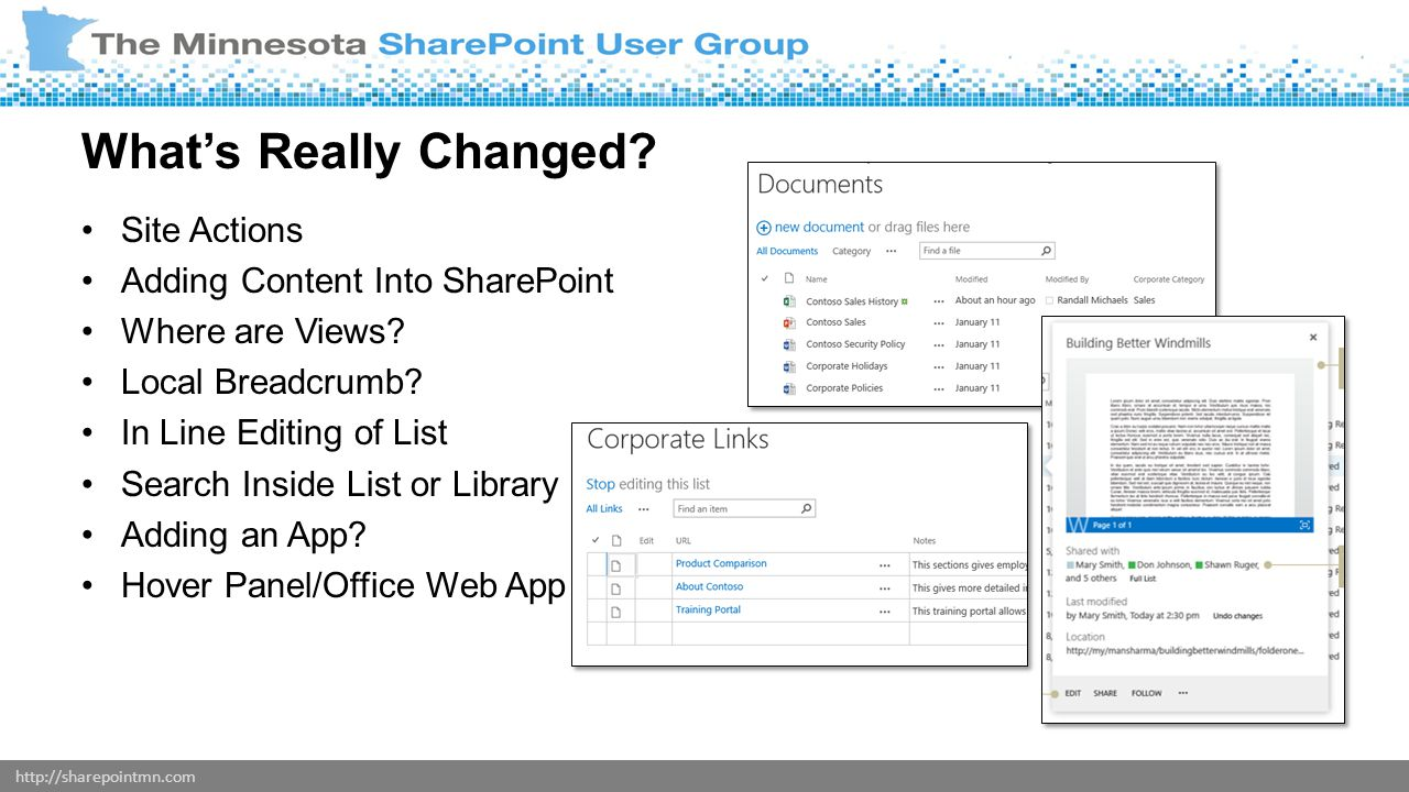 http://sharepointmn.com Site Actions Adding Content Into SharePoint Where are Views.