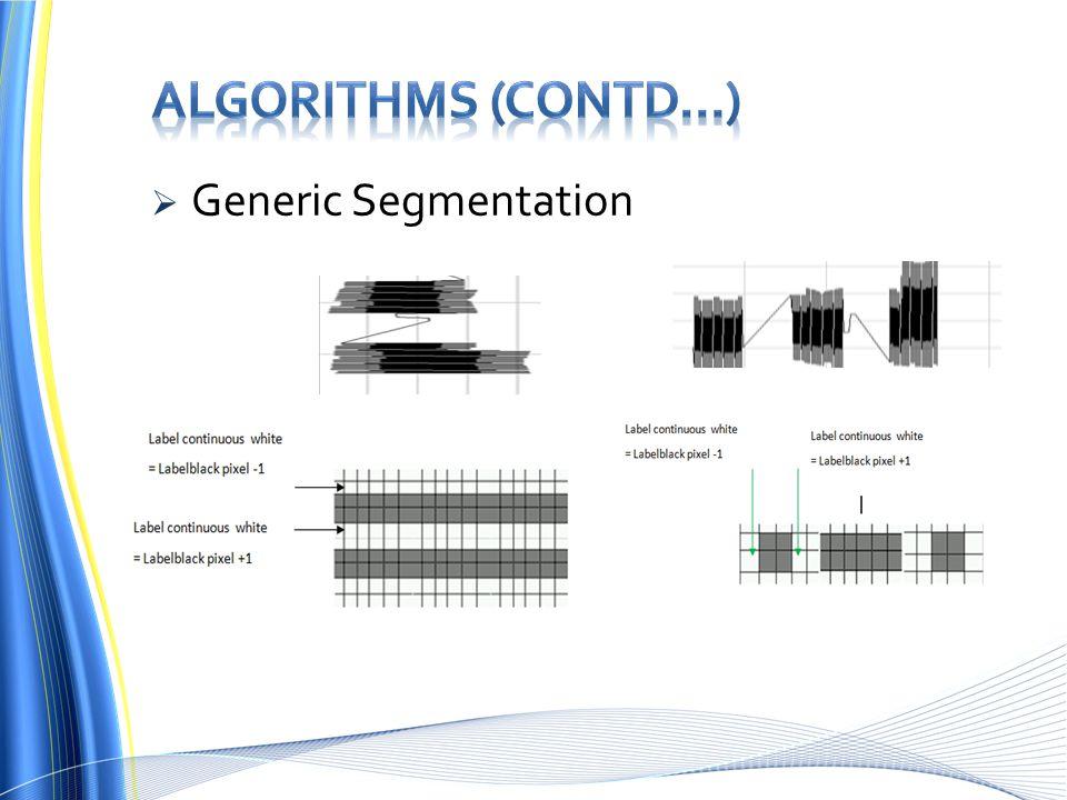  Generic Segmentation