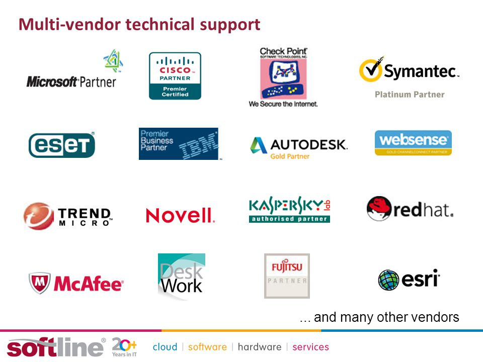 Multi-vendor technical support... and many other vendors