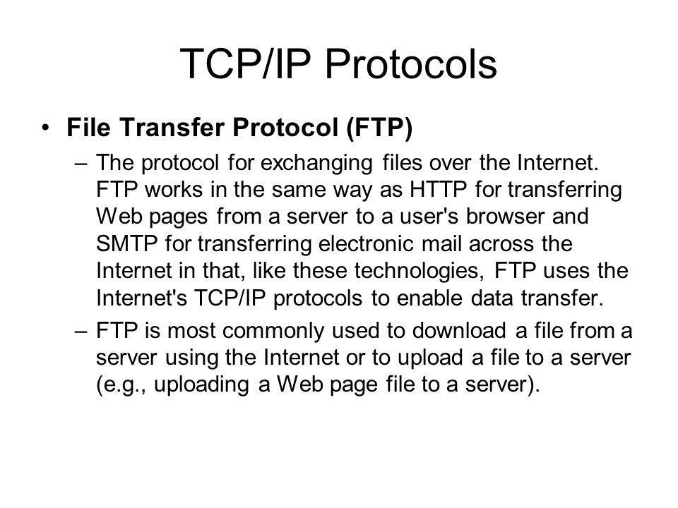 TCP/IP Protocols IMAP - Short for Internet Message Access Protocol, a protocol for retrieving e-mail messages. The latest version, IMAP4, is similar t