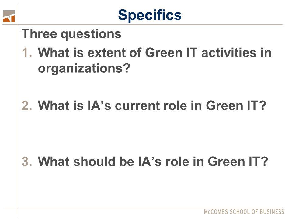 Specifics  Roles  Assurance  Facilitating  Consulting