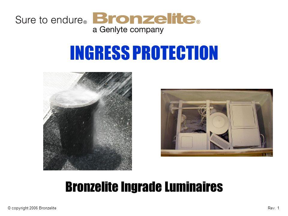INGRESS PROTECTION Bronzelite Ingrade Luminaires © copyright 2006 BronzeliteRev. 1