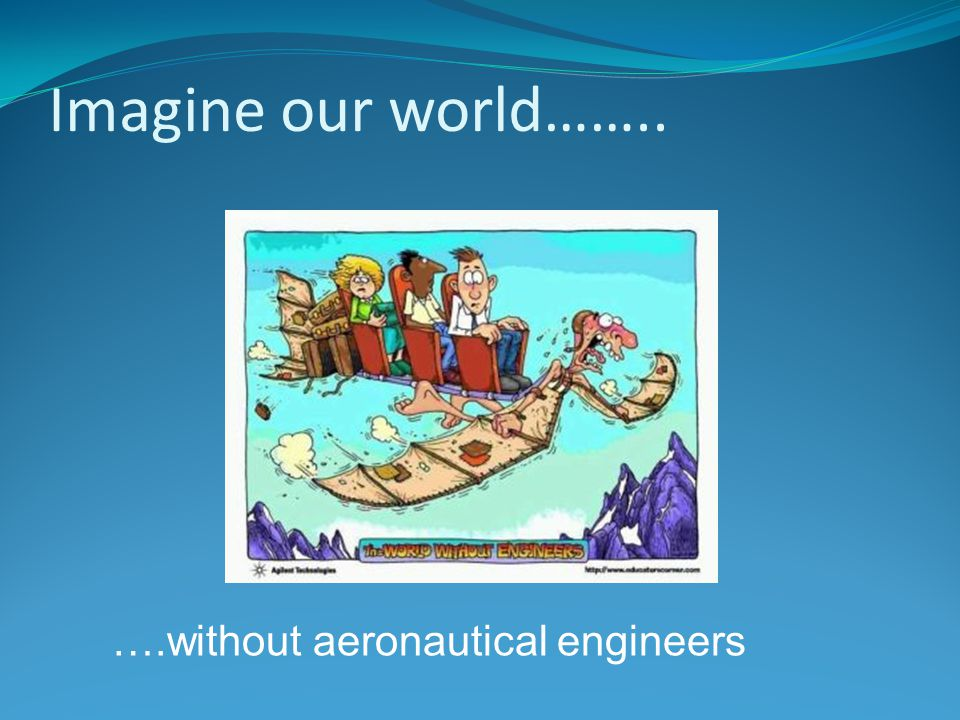 Imagine our world…….. ….without aeronautical engineers