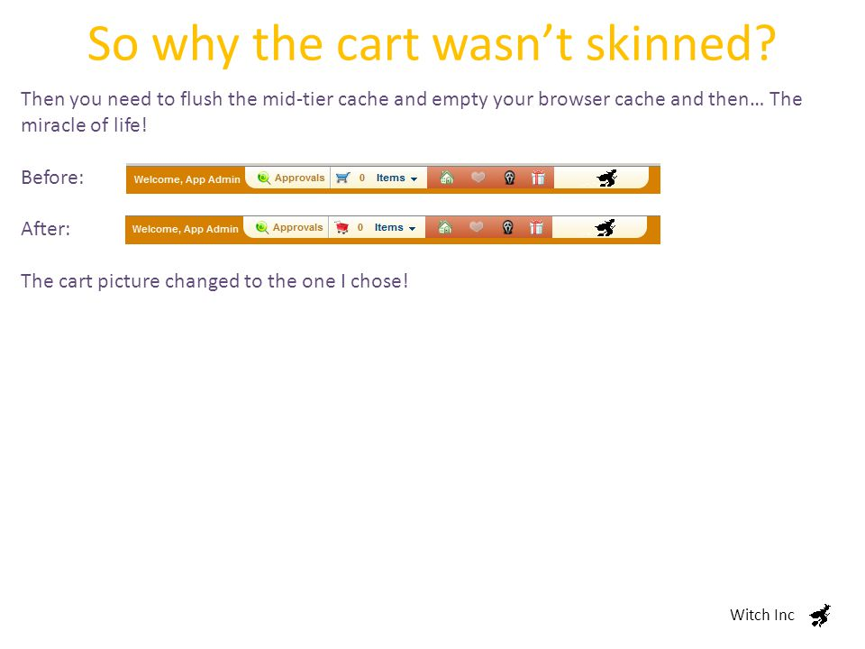 So why the cart wasn't skinned.