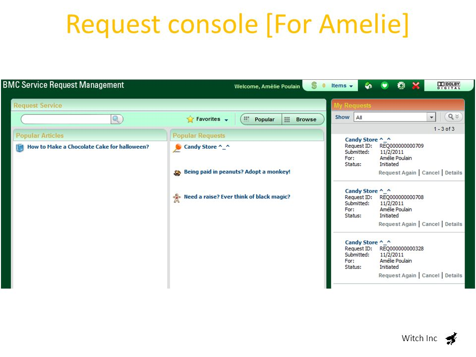 Request console [For Thomas] Witch Inc