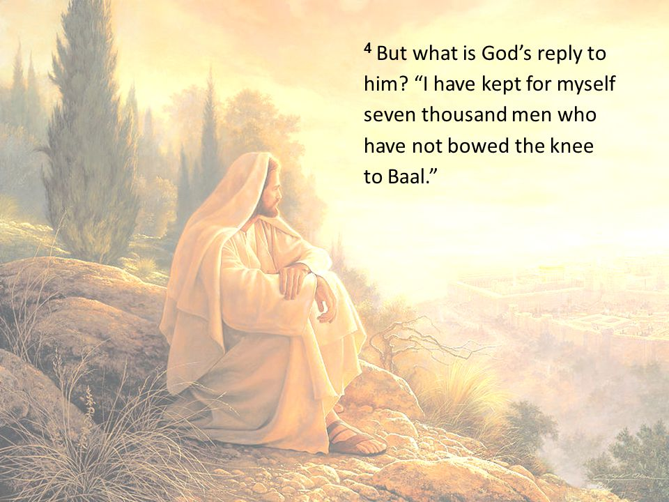 4 But what is God's reply to him.