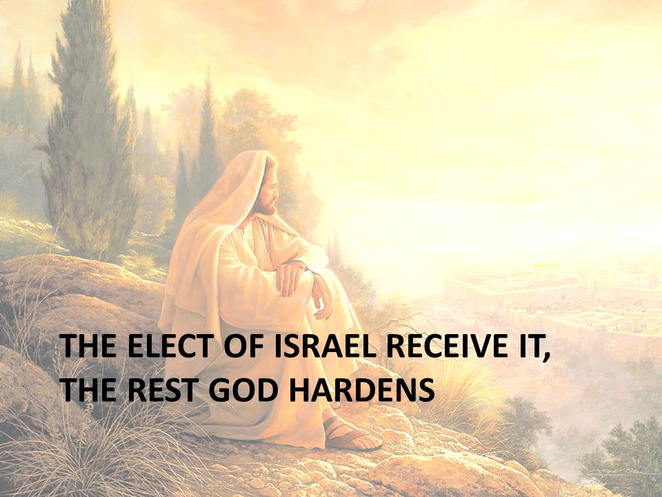THE ELECT OF ISRAEL RECEIVE IT, THE REST GOD HARDENS