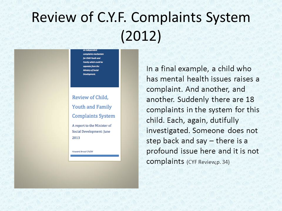 Review of C.Y.F.