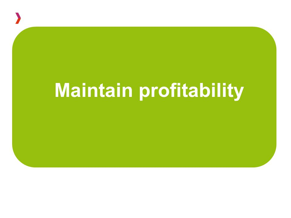 Maintain profitability