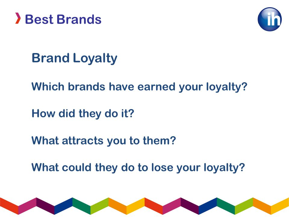 Best Brands Brand Loyalty Which brands have earned your loyalty.