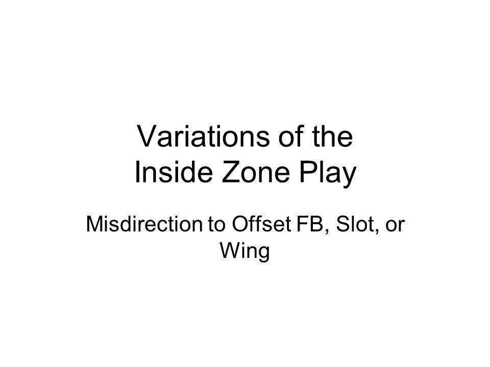 Variations of the Inside Zone Play Shotgun & Pistol Sets