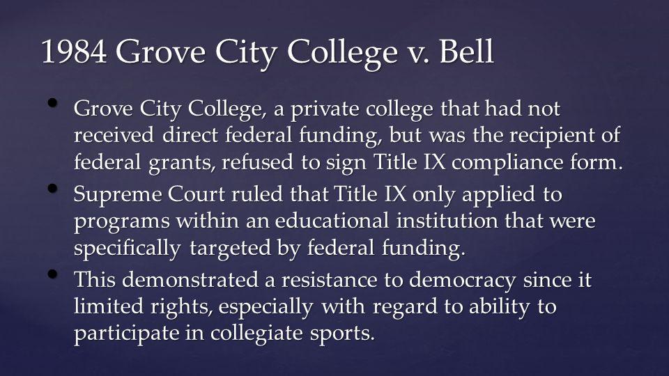 1984 Grove City College v.