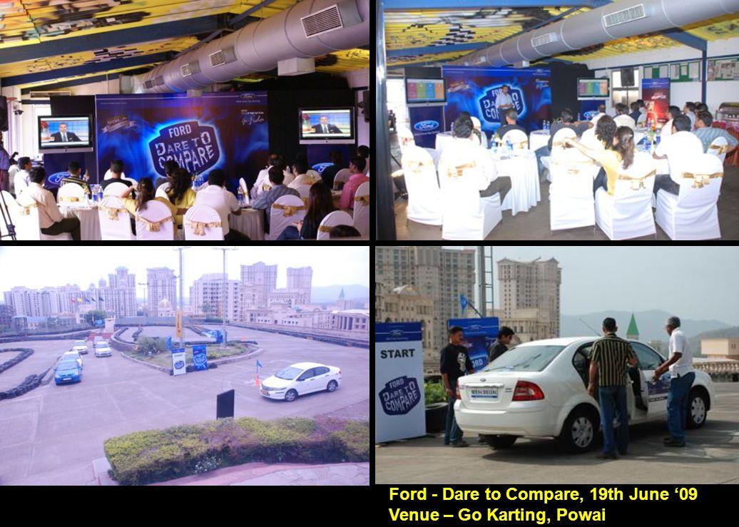 Ford - Dare to Compare, 19th June '09 Venue – Go Karting, Powai