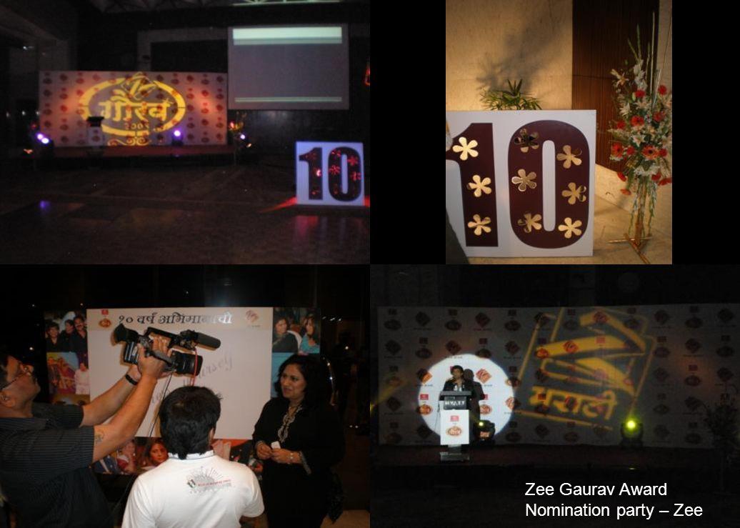 Zee Gaurav Award Nomination party – Zee