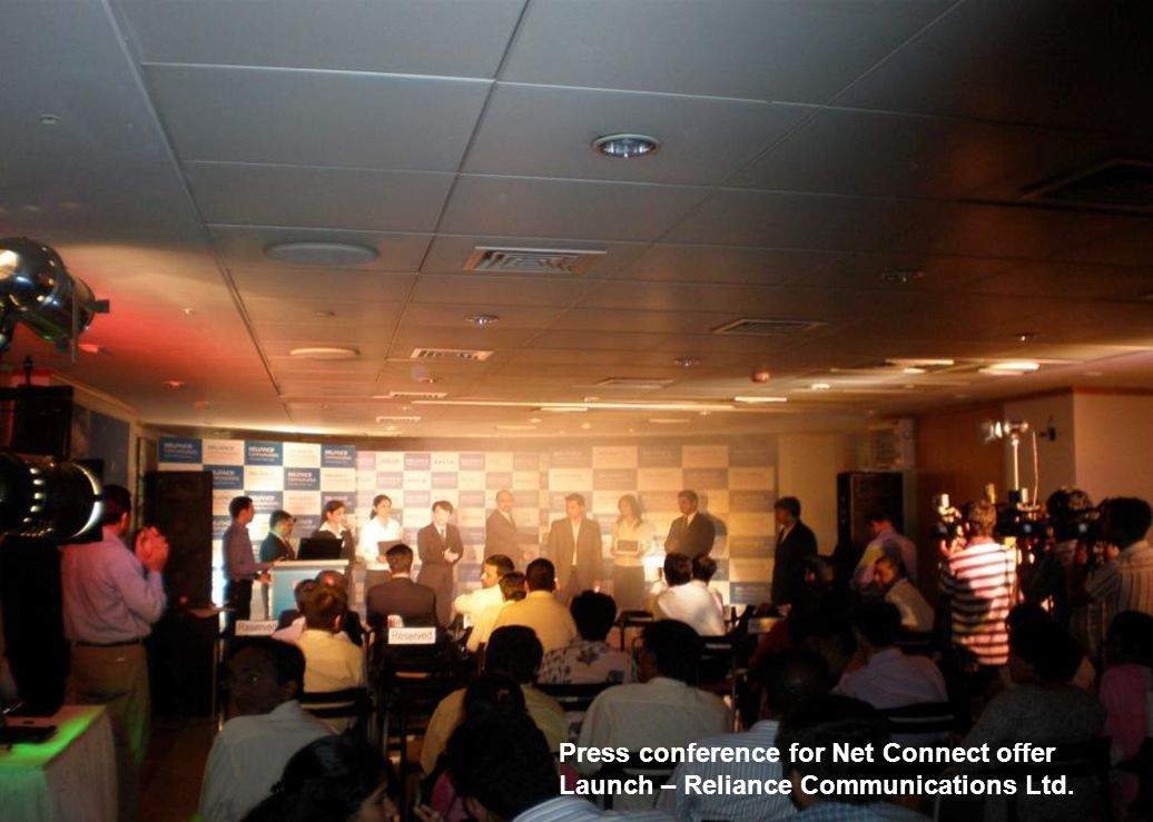 Press conference for Net Connect offer Launch – Reliance Communications Ltd.