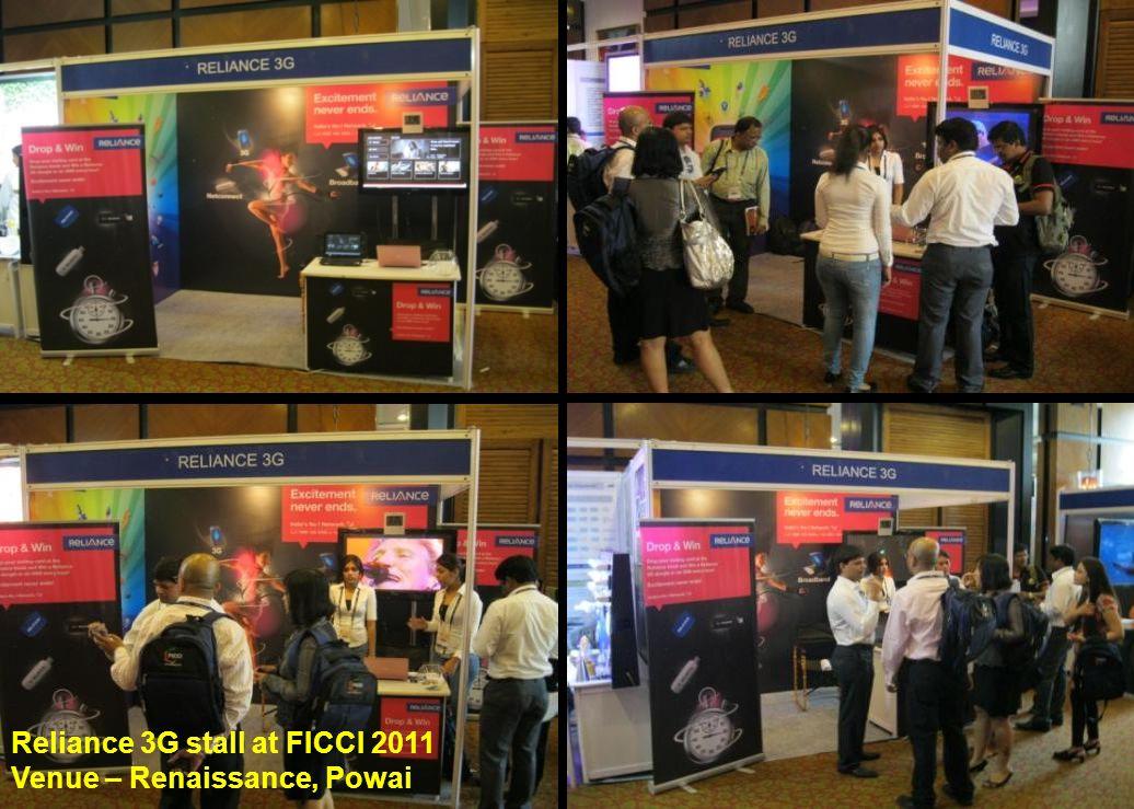 Reliance 3G stall at FICCI 2011 Venue – Renaissance, Powai