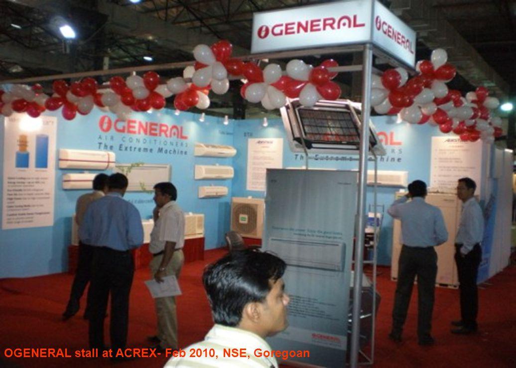 OGENERAL stall at ACREX- Feb 2010, NSE, Goregoan