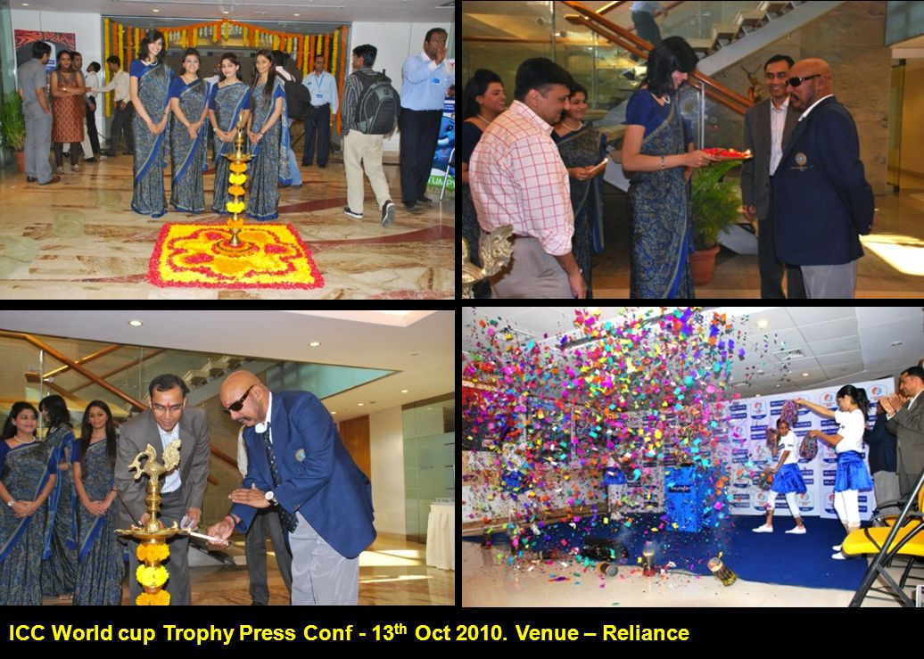 ICC World cup Trophy Press Conf - 13 th Oct 2010. Venue – Reliance