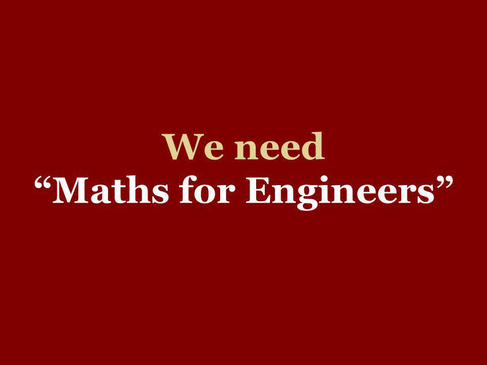 We need Maths for Engineers